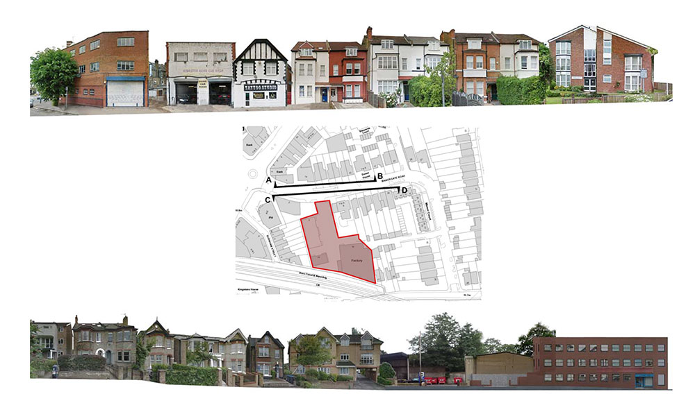 Lidl Norbiton – The Surrounding Context – Existing Street Elevations
